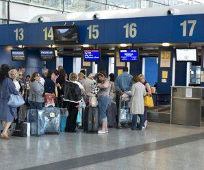 Аэропорты не справляются с потоком туристов на Новогодние праздники.