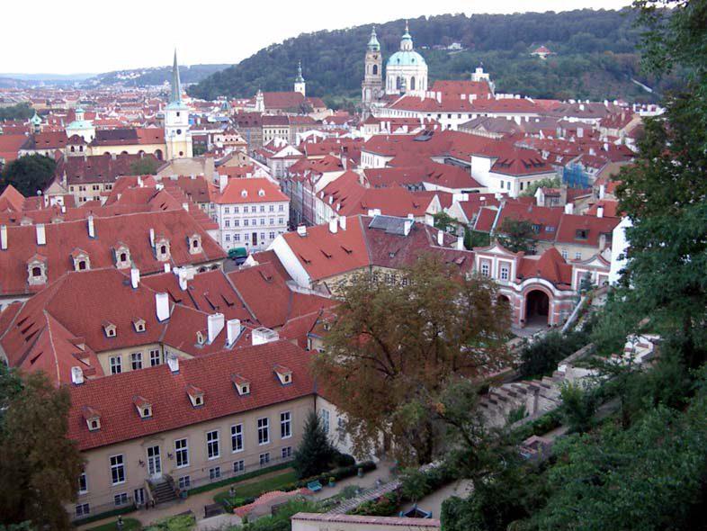 Прага - вид на город сверху