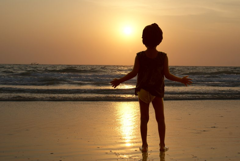Закат солнца. Пляж Беталбатим. Южный Гоа