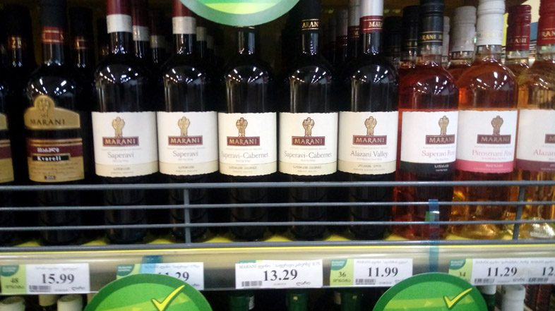 грузинское вино в Батуми