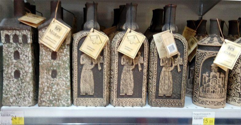 Грузинское вино в супермаркете Батуми