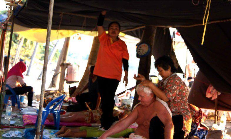Тайский массаж на пляже Вонгамат
