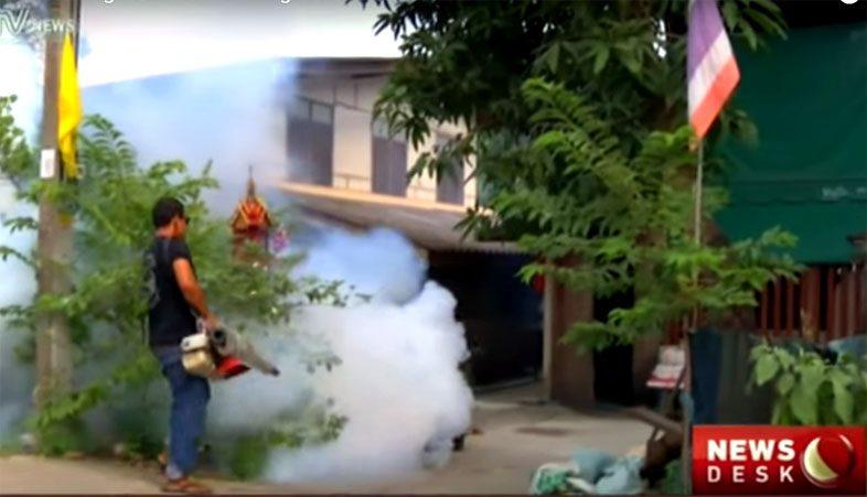 Борььа с комарами в Тайланде