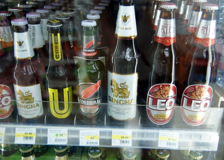 Прилпавок с пивом в магазине Паттайи